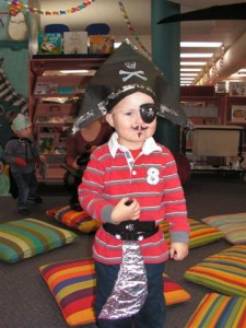 Pirate Connor came along to Storytime this week