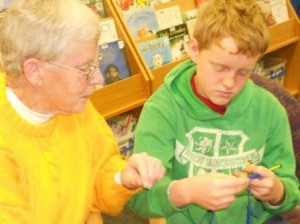 Boys learnt knitting skills to help others in need