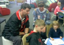 Children enjoyed reading with their Dads