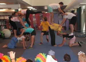 Creating a Human Pyramid