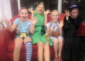 Emily, Freya, Portia, Toto & Olivia ready for Storytime