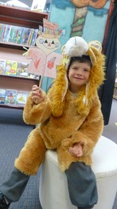 Jesse also had fun dressed as a Lion