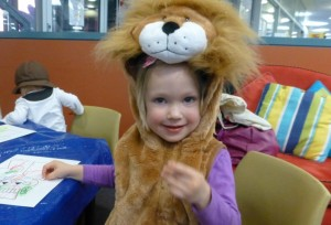 Mary the Lion roared at Storytime