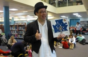 Thumbs up from Storyteller Nicholas (aka Library team member Michael)