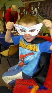 Superhero Bailey age 4 with his mask (Small)