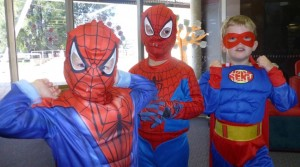 Superheroes Oliver, Ky and William at Storytime (Small)