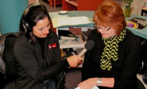 Lizzie reading on ABC Central West as part of Library Week.