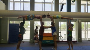 Orange High School Circus Troupe show off their gymnastic skills