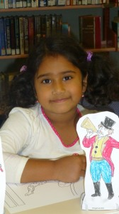 Chaitra also had fun colouring-in at Circus Storytime