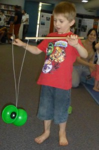 Rohan discovered his juggling skills at Circus Storytime