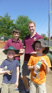 Scout James and Rover John from 2nd Orange Scout Group,  with Andrew and Ryan
