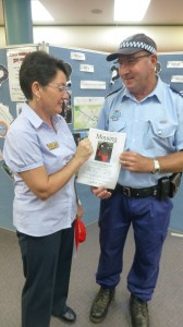 Librarian Julie Sykes reports Freeda missing to Snr Constable Greg Treavors