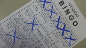 Play Reading Bingo, write down books that fit the categories. Have Fun!