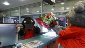 Freeda was surprised and delighted to receive flowers today