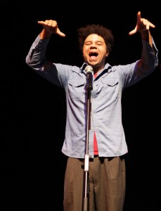 Talented Miles Merrill will host Poetry Slam and Workshop