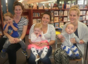 Kate and Liam, Belinda and Harriet, Fiona and Freddie graduated from Baby Rhyme and Read