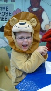 Connor Roars at Storytime
