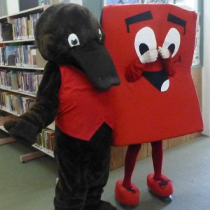 Freeda the Reader and Book Bob share a love of reading