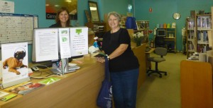 Rossanne helps a library patron at Canowindra