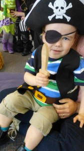 Hamish enjoyed dressing up as Pirate