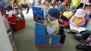 Zac, 5, dressed as Thomas the Tank Engine