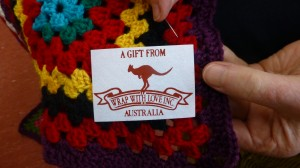 Support Wrap with Love with yarn donations