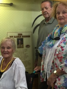 Alistair Kable, Janice Cornish and Fran Laughton (seated) visit the Viv Kable Museum.