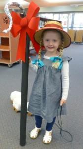 Gracie dressed up as Little Bo Peep