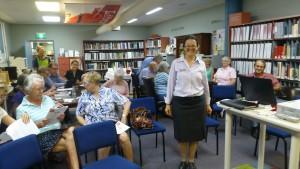 Monica enjoyed teaching during Seniors Week