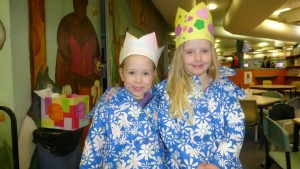Ava and Gracie made crowns