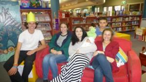 Actors Gerry, Helena, Sarah, Ashleigh and Daniel