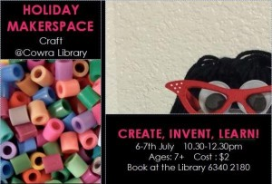 Cowra Library Holiday Craft Postcard 2015