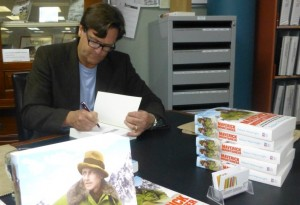 Author Robert Wainwright signing books