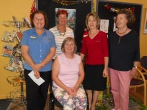 Cowra Library team Caroline, Linda, Ann, Jan and Maryanne