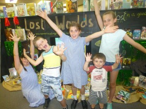 Hands in the air Grace Luke Kira Hayden and Angela