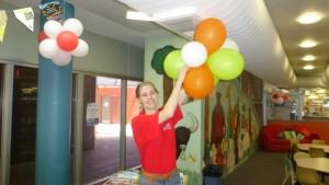 Sabrina and Balloons (Small)