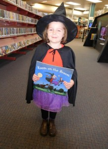 Bree dressed as a Witch