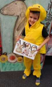 Hugh dressed up as a duck for Storytime.