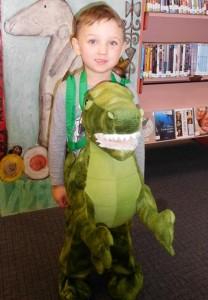 Nicholas dressed as a Dinosaur