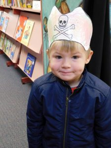 Leo made his own pirate hat