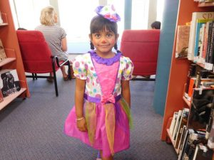 Disha dressed as clown