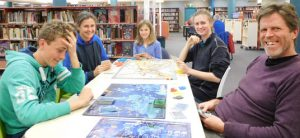 Gabe, Loretta, Juliette, Emily and Chris play Pandemic and Ticket to Ride